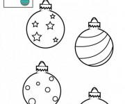 Coloriage Boule de Noel décorée en étoiles