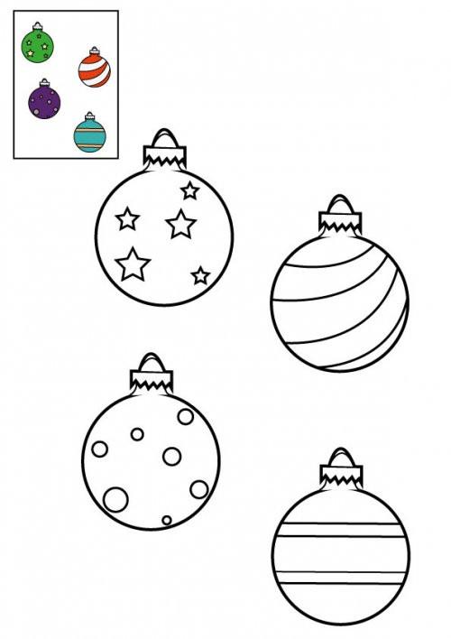 Coloriage Boule de Noel gratuit à imprimer liste 20 à 40