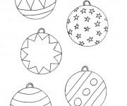 Coloriage Boule de Noel dessin animé