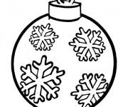 Coloriage et dessins gratuit Boule de Noel en couleur à imprimer