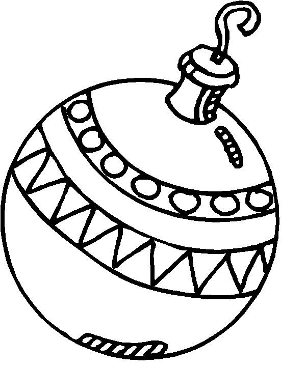 Coloriage et dessins gratuits Boule de Noel en noir à imprimer