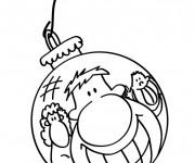 Coloriage Boule de Noel humoristique