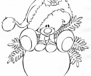 Coloriage et dessins gratuit Boule de Noel pour enfant à imprimer