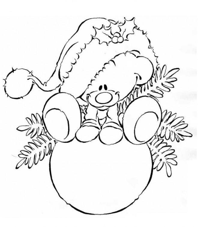 Coloriage et dessins gratuits Boule de Noel pour enfant à imprimer