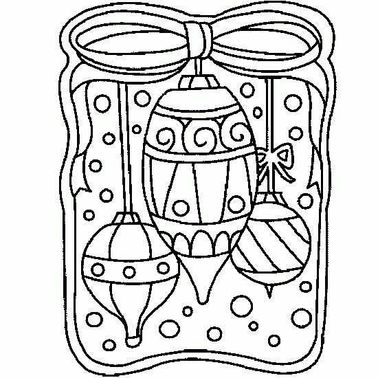 Coloriage et dessins gratuits Boule de Noel près de La Fenêtre à imprimer