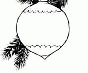 Coloriage Boule de Noel réaliste