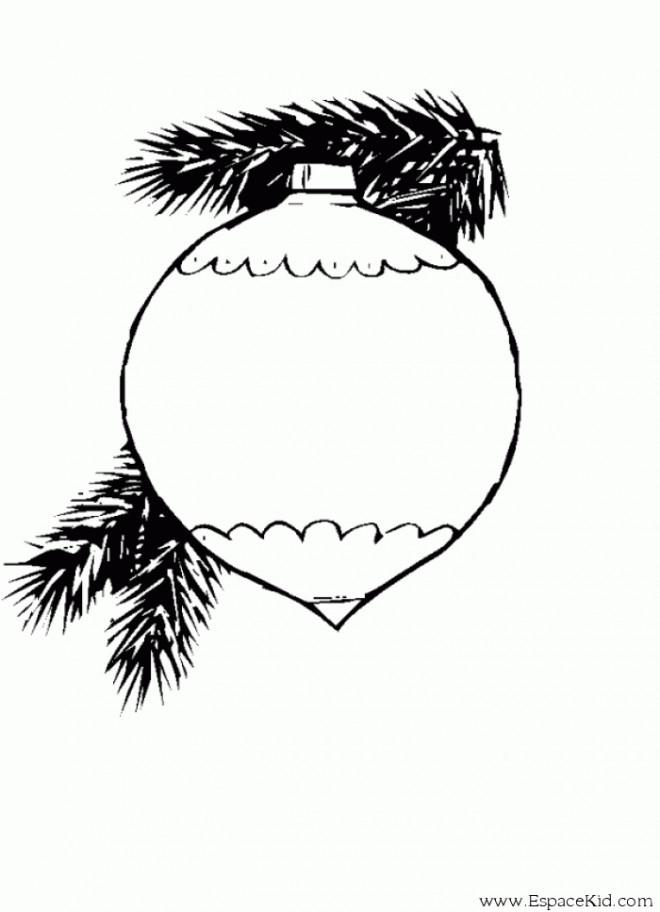 Coloriage et dessins gratuits Boule de Noel réaliste à imprimer