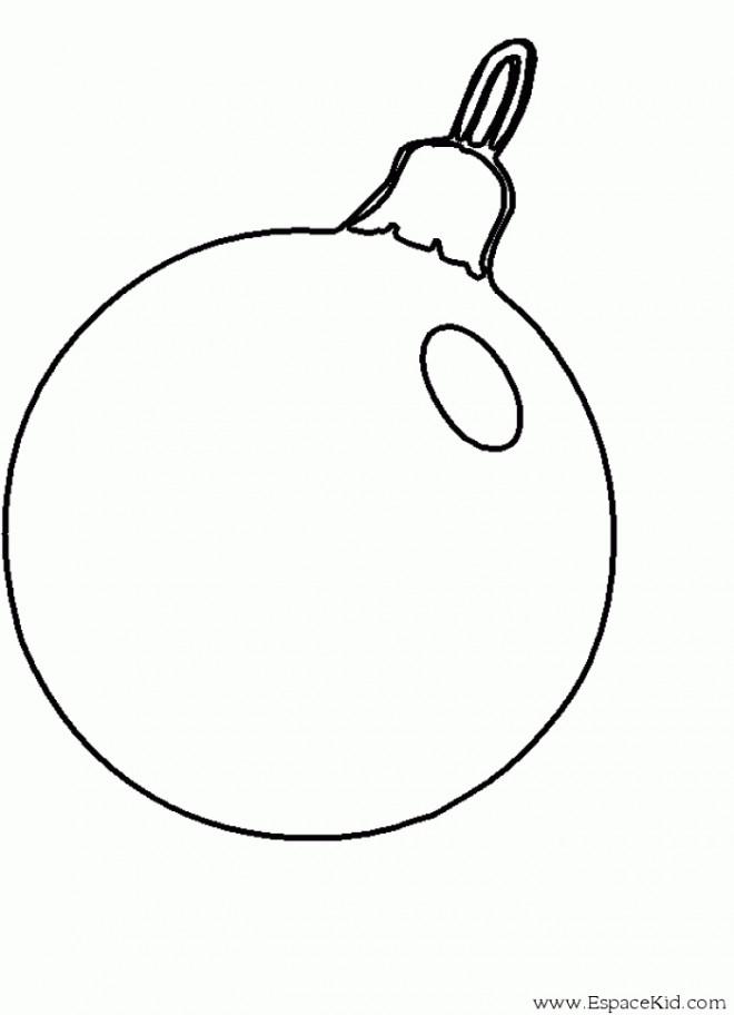 Coloriage boule de noel simple dessin gratuit imprimer - Boules de noel dessin ...