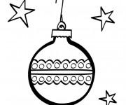 Coloriage Boule de Noel sous Les Étoiles