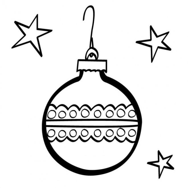 Coloriage et dessins gratuits Boule de Noel sous Les Étoiles à imprimer