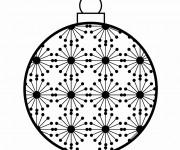 Coloriage et dessins gratuit Boule de Noel stylisé à imprimer
