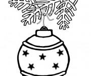 Coloriage Boule de Noel sur Le Sapin