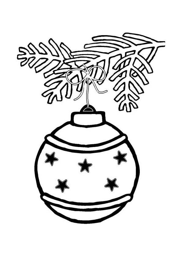 Coloriage et dessins gratuits Boule de Noel sur Le Sapin à imprimer