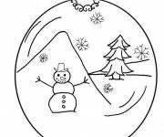 Coloriage Boule et décor de Noël
