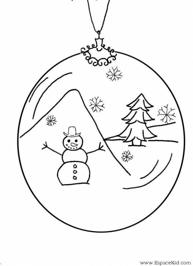 Coloriage et dessins gratuits Boule et décor de Noël à imprimer