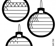 Coloriage Boules de Noel à compléter