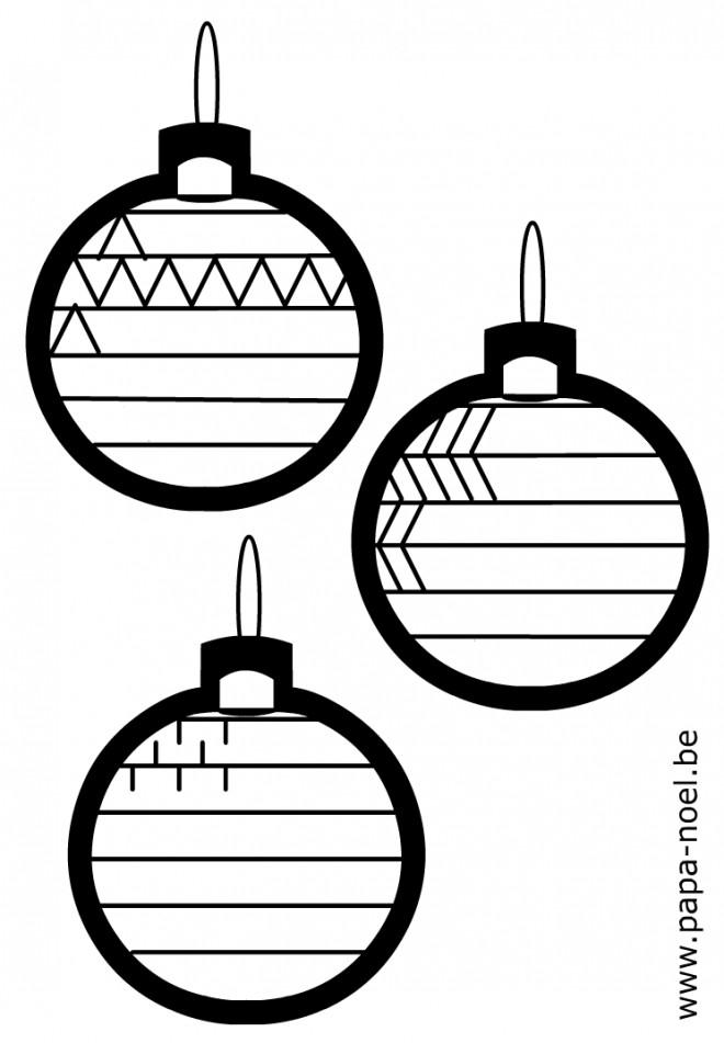 Coloriage et dessins gratuits Boules de Noel à compléter à imprimer