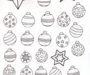 Coloriage et dessins gratuit Boules de Noel à télécharger à imprimer