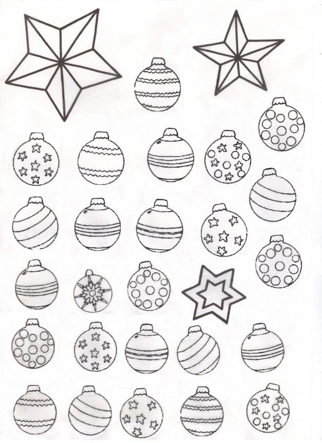 Coloriage et dessins gratuits Boules de Noel à télécharger à imprimer