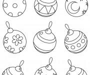 Coloriage et dessins gratuit Boules de Noel couleur à imprimer