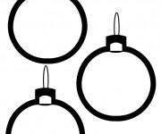 Coloriage et dessins gratuit Boules de Noel en noir et blanc à imprimer