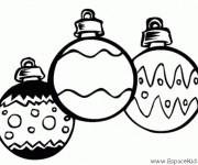 Coloriage et dessins gratuit Boules de Noel vecteur à imprimer