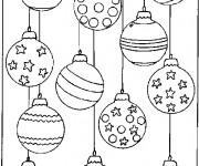Coloriage et dessins gratuit Des Boules de Noel en ligne à imprimer