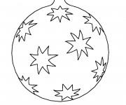 Coloriage Dessin boule de Noël simple