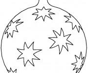 Coloriage Grosse Boule de Noel