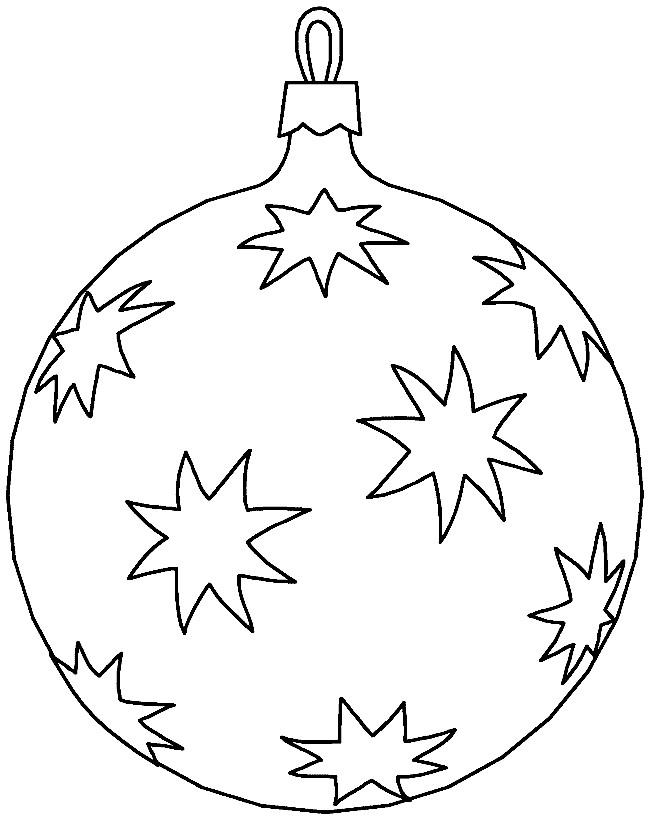 Coloriage et dessins gratuits Grosse Boule de Noel à imprimer