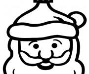 Coloriage Père Noel vecteur