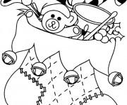 Coloriage et dessins gratuit Bas De Noel plein des Cadeaux à imprimer
