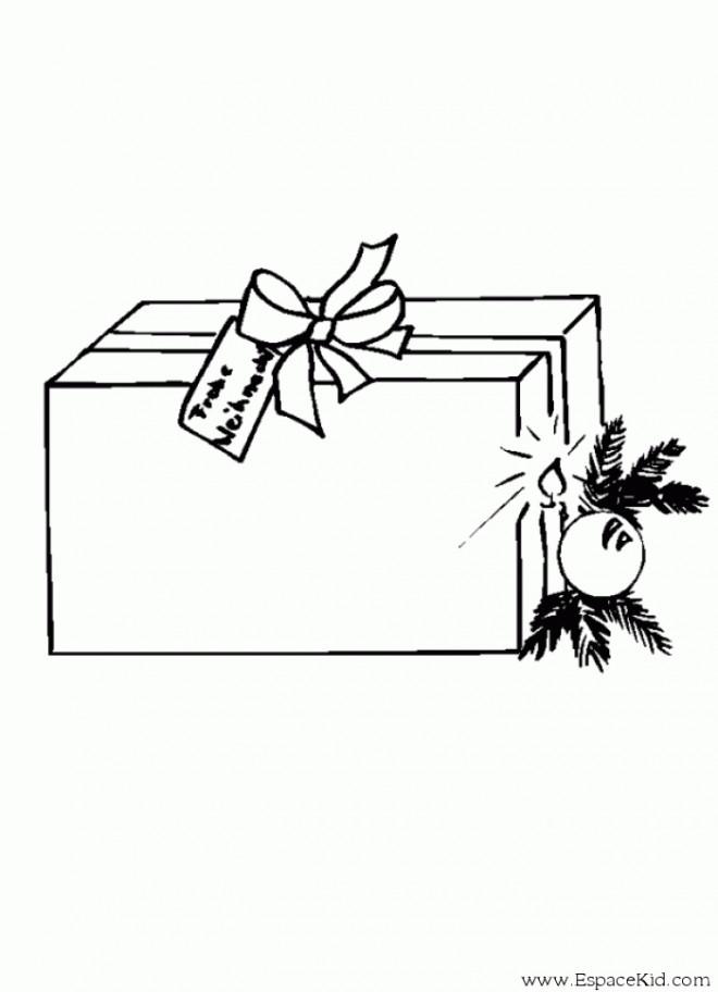 Coloriage et dessins gratuits Cadeau avec carte à imprimer