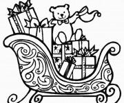 Coloriage Cadeau avec Ours en couleur
