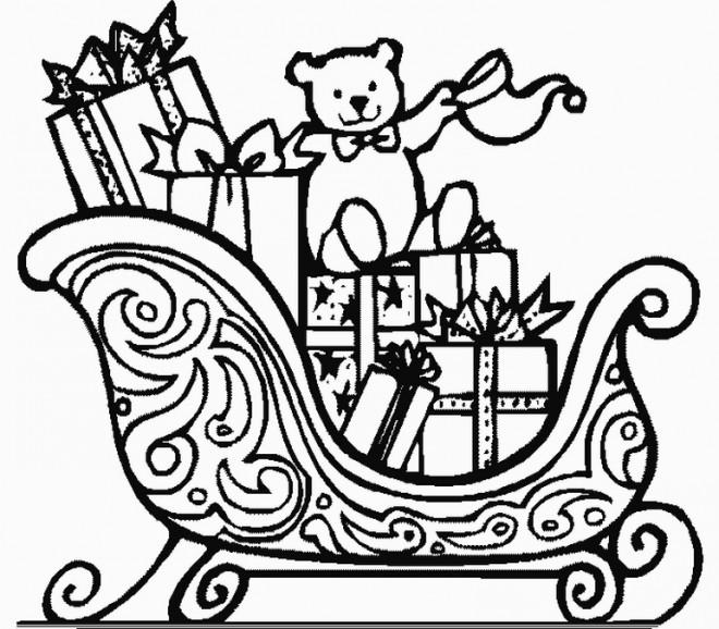 Coloriage et dessins gratuits Cadeau avec Ours en couleur à imprimer