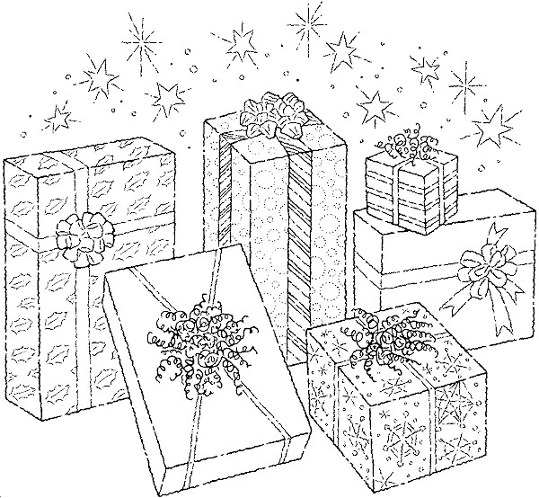 Coloriage et dessins gratuits Cadeau d'Anniversaire fantastique à imprimer