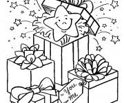 Coloriage dessin  Cadeau de Noel 11