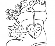 Coloriage dessin  Cadeau de Noel 14
