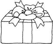 Coloriage dessin  Cadeau de Noel 18