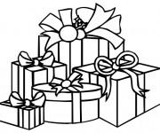 Coloriage dessin  Cadeau de Noel 3