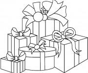 Coloriage dessin  Cadeau de Noel 4