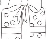 Coloriage Cadeau de Noel au crayon