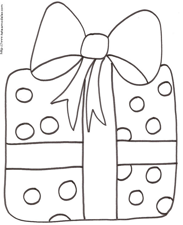 Coloriage et dessins gratuits Cadeau de Noel au crayon à imprimer
