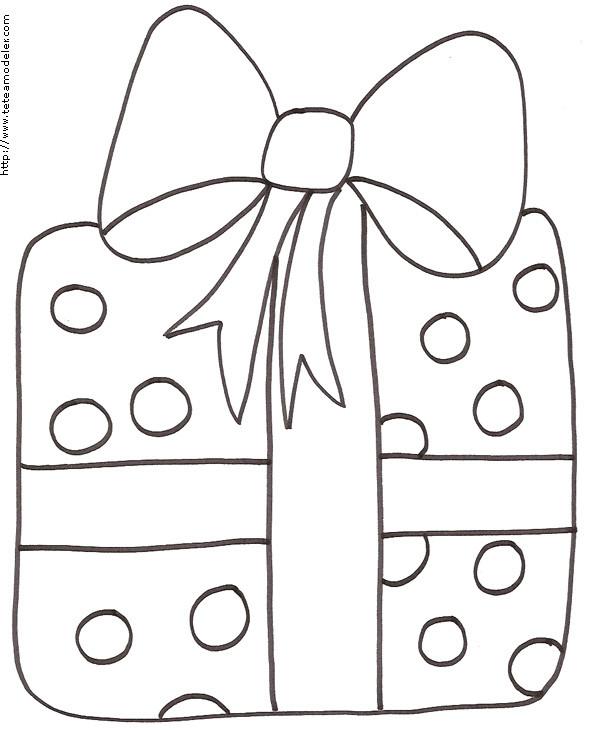 Coloriage cadeau de noel au crayon dessin gratuit imprimer - Dessin cadeaux de noel ...