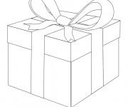 Coloriage et dessins gratuit Cadeau de Noel avec Noeud à imprimer