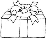 Coloriage et dessins gratuit Cadeau de Noel couvert à imprimer
