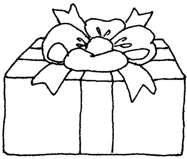 Coloriage et dessins gratuits Cadeau de Noel couvert à imprimer