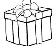 Coloriage et dessins gratuit Cadeau de Noel déposé à imprimer