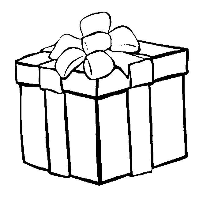 Coloriage et dessins gratuits Cadeau de Noel déposé à imprimer