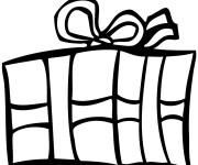 Coloriage et dessins gratuit Cadeau de Noel vecteur à imprimer